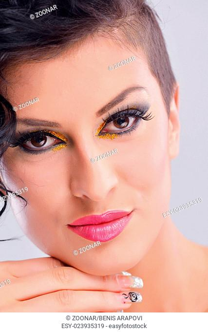 Beautiful Woman with Luxury Makeup