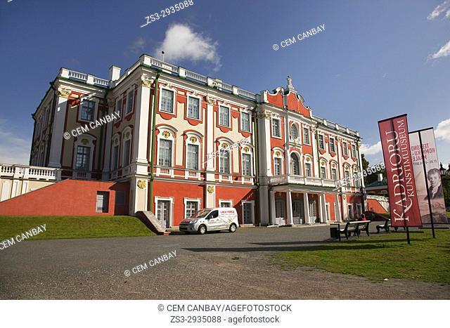View to the Palace in Kadriorg Park, Tallinn, Estonia, Baltic States, Europe