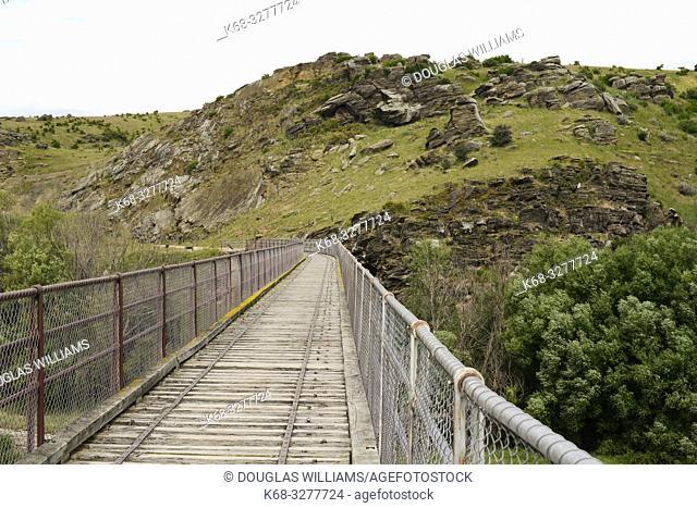 A bridge on the Central Otago Rail trail; South Island; New Zealand