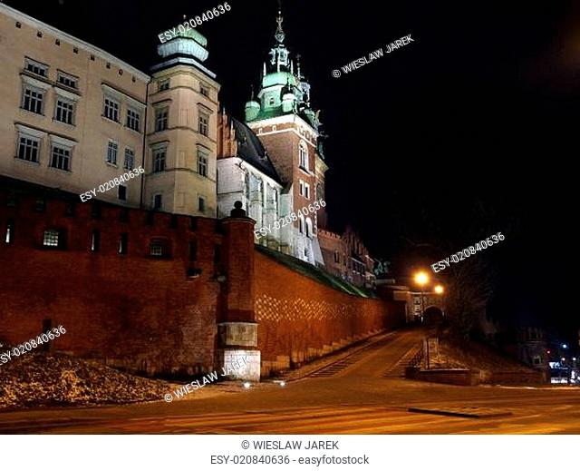 Wawel Hill by night - Krakow