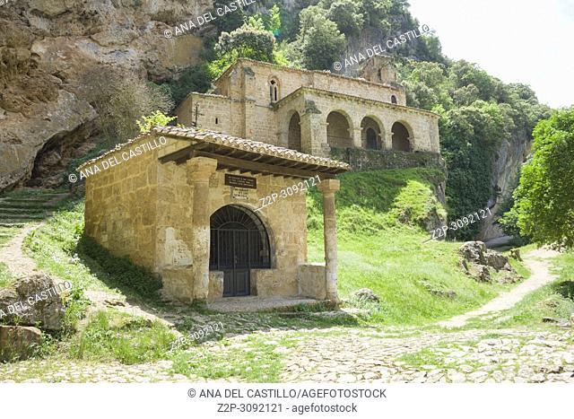 Santa Maria de la Hoz medieval chapel in Tobera, Burgos, Spain