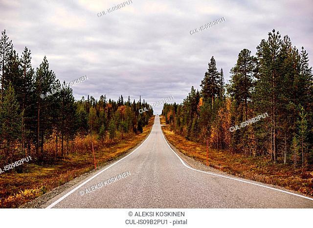 Scenic road, Keimiotunturi, Lapland, Finland