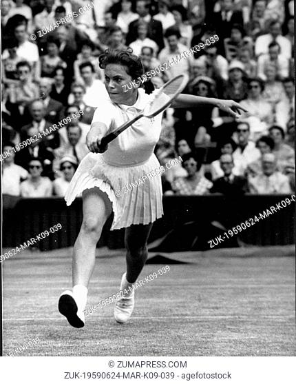 June 24, 1959 - London, England, U.K. - German tennis player EDDA BUDING won the women's doubles gold medal at the 1968 Summer Olympics