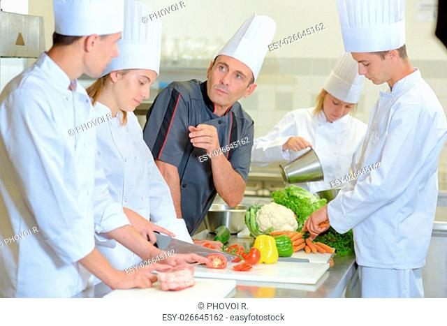 chef and his students