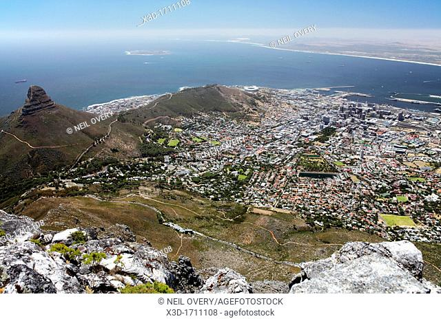 View of Cape Town from Table Mountain, Cape Town, South Africa