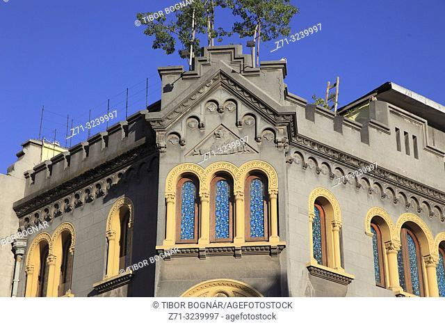 Chile, Santiago, Barrio Yungay, heritage architecture,