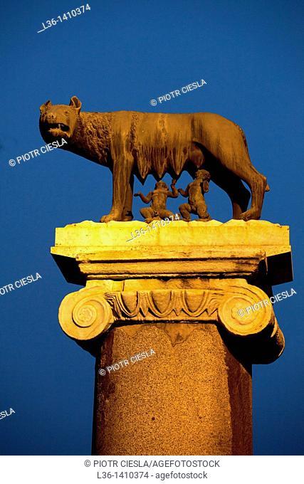 Rome  Piazza Campidoglio The Capitoline Wolf, symbol of Rome