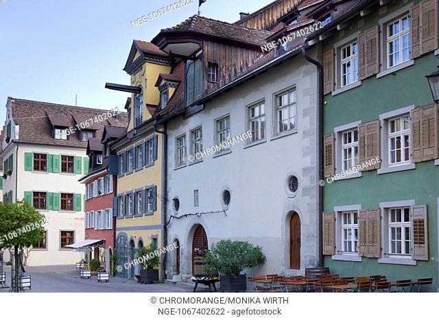 Vorburggasse, alley, Meersburg, Lake Constance, Baden-Wuerttemberg, Germany, Europe
