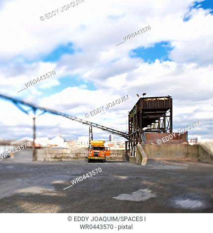 Conveyor and Truck at Sorting Dock