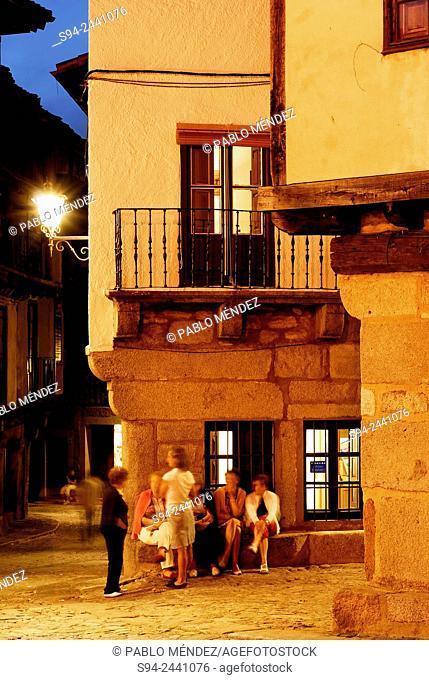 Detail of the Main square of La Alberca, Salamanca, Spain