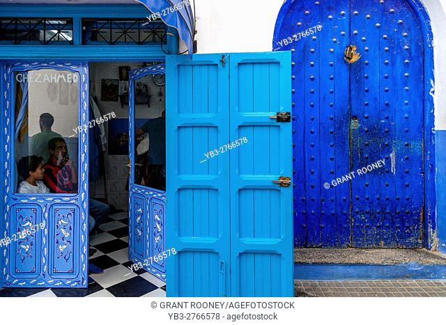 A Barber Shop In The Medina, Asilah, Morocco