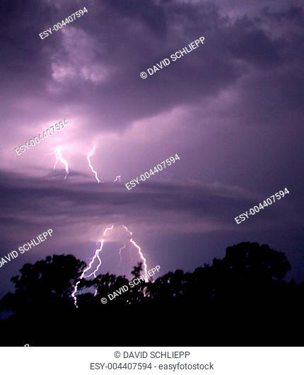 Lightning Penetrates Clouds