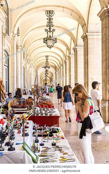 Portugal, Lisbon, Arco Da Rua Augusta, commercio square, district Baixa