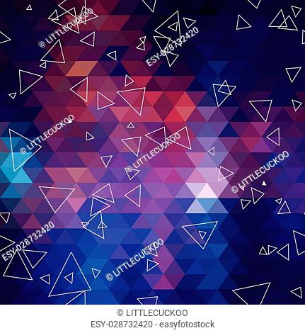 Geometric triangle abstract background. seamless pattern