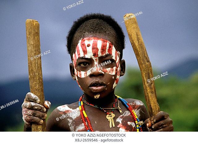 ethiopia, omo valley, banna tribe