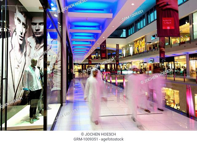 Arab men in Dubai Mall, Dubai, UAE