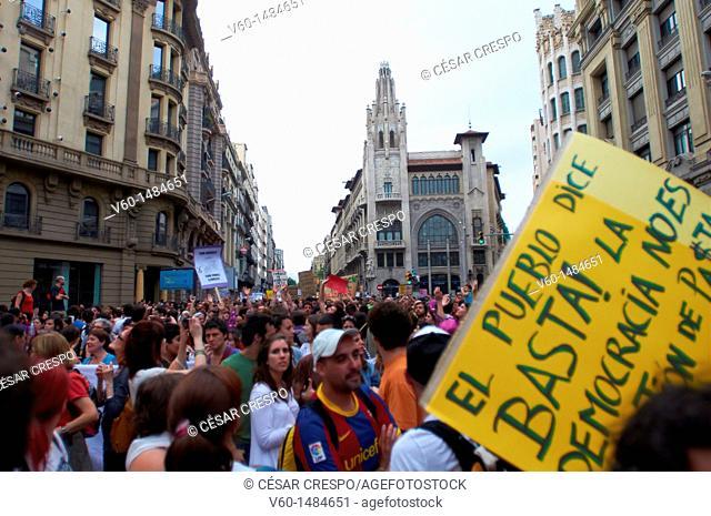-People say Stop It, Democracy it isn't make Money- Barcelona (Spain)