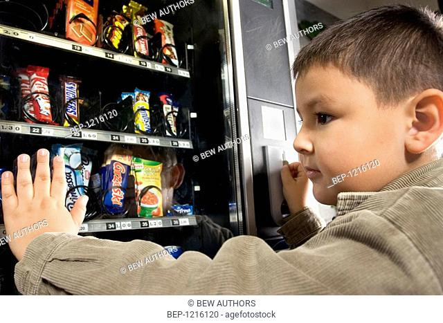Boy buying sweets