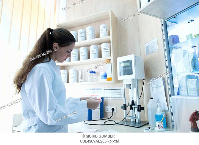 Pharmacist in pharmacy