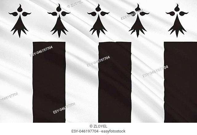 Flag of Rennes is a city in the east of Brittany in northwestern France at the confluence of the Ille and the Vilaine. Rennes is the capital of the region of...