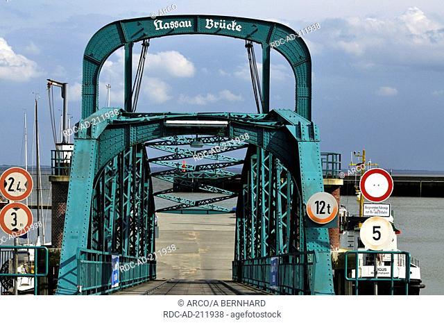 Nassau-Bridge, Wilhelmshaven, Lower Saxony, Germany, Nassau-Brücke