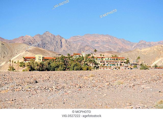 Hotel, Furnace Creek Inn, Death Valley Nationalpark, California, USA - 22/07/2010