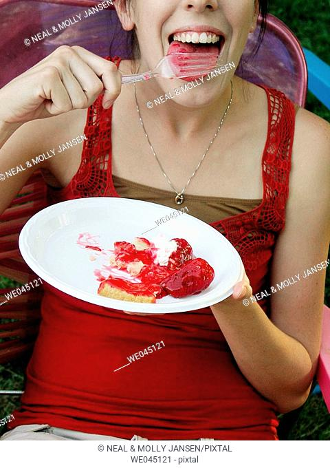 Eating Strawberry Pie