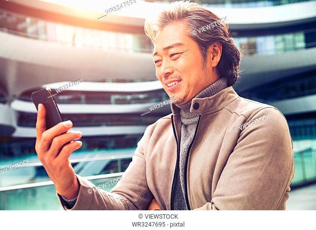 Business man make a phone call