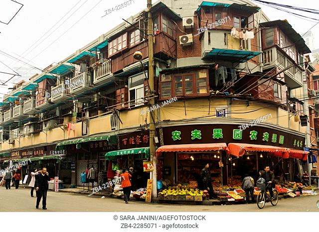 Old houses, Shanghai, China, Asia