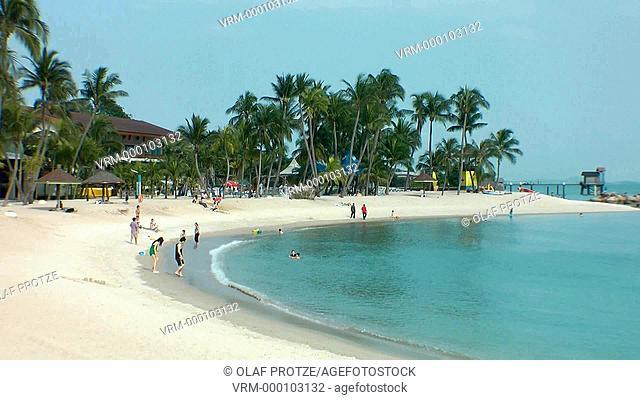 Palawan Beach on the island resort of Sentosa in Singapore