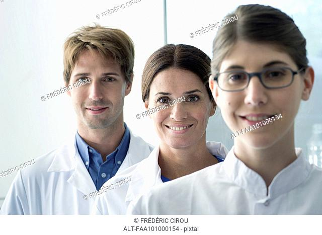 Team of scientists, portrait