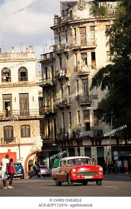 Classic American Cars, Habana Vieja, Old Havana, Cuba