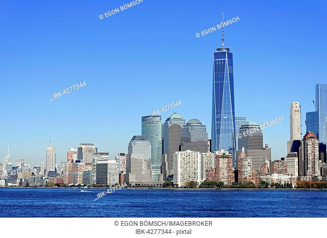 Skyline Financial District with One World Trade Center, Manhattan, New York City, New York, USA
