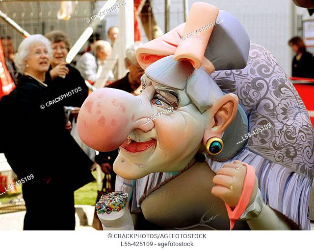 'Ninot' (figure to be burnt during 'fallas' festival). Valencia, Spain