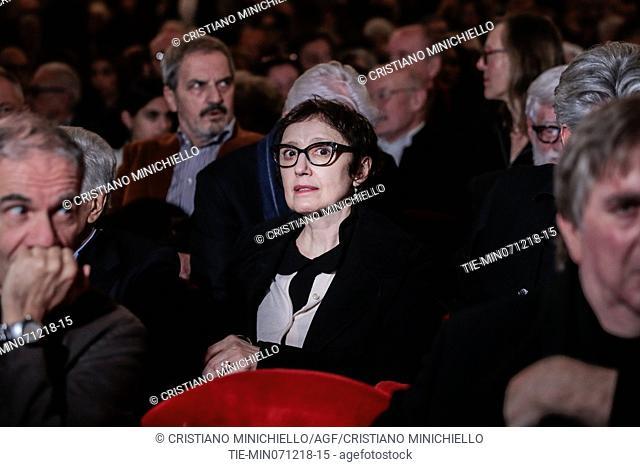 Nicoletta Braschi attends at the evening in memory of Bernardo Bertolucci at the Argentina Theatre in Rome, ITALY-06-12-2018