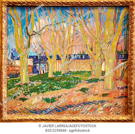 """""""""""""""View of the Viaduct in Arles"""""""", known as """"""""The Blue Train"""""""". Vincent Van Gogh. Rodin Museum. Paris. France"""