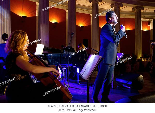 Concert in Zappeion mansion in Athens.The Zappeion is a building in the National Gardens of Athens in the heart of Athens