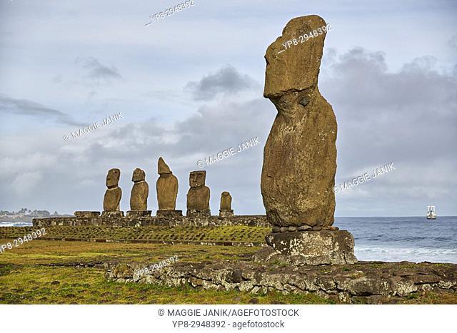 Ahu Tahai and Ahu Vai Uri, Easter Island (Isla de Pascua) (Rapa Nui), Chile