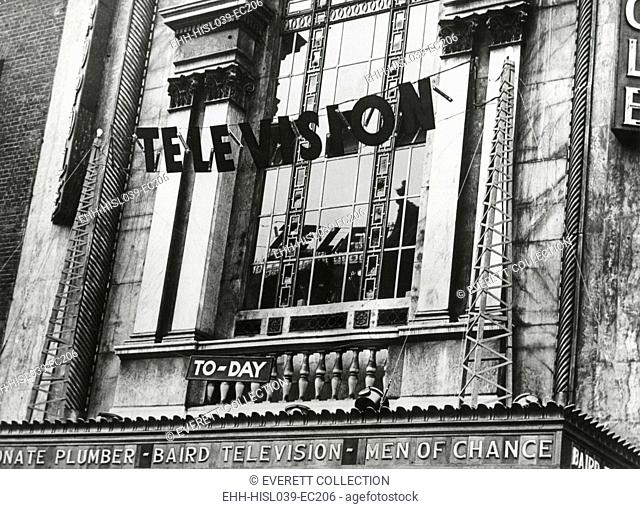 Television was shown for the first time in England, June 1932. The demonstration showed the Epson Derby at the Metropole Cinema