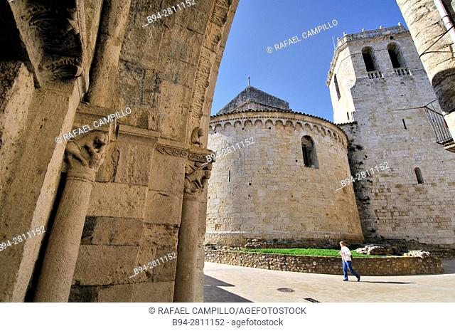 Sant Pere de Besalú, Benedictine monastery in Besalú, Garrotxa, Catalonia, Spain