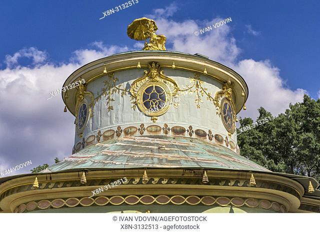 Chinese Teahouse (1764), Sanssouci, Potsdam, Brandenburg, Germany