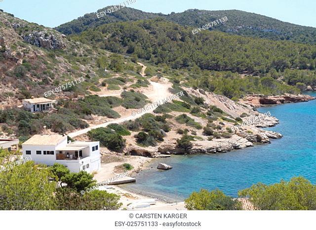 the bay of the island of cabrera in mallorca
