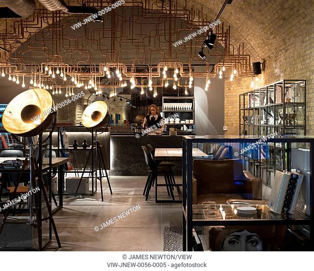 View of bar area. C P Hart Showroom, London, United Kingdom. Architect: Morrow + Lorraine Architects, 2015