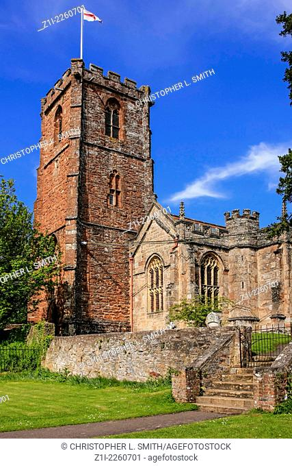 The Church of the Holy Ghost at Crowcombe on Exmoor in Somerset