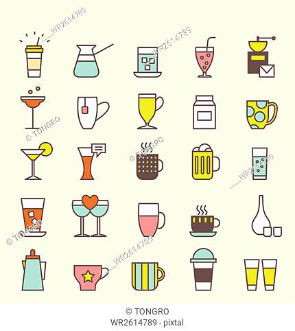 Icon set related to drink