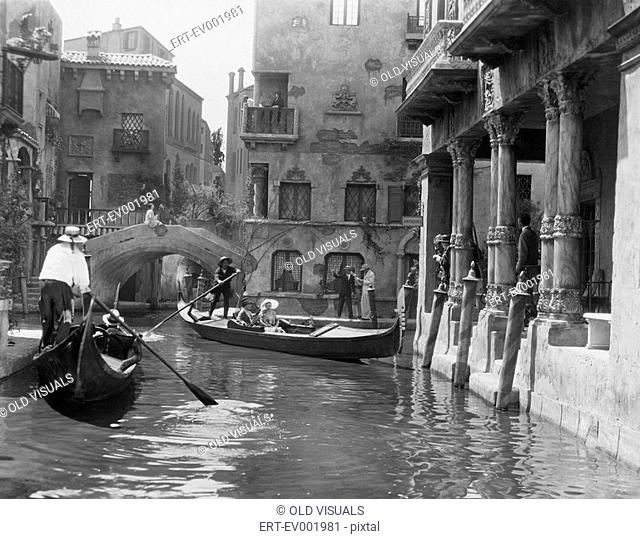 Venice, Italy, circa 1920s All persons depicted are not longer living and no estate exists Supplier warranties that there will be no model release issues