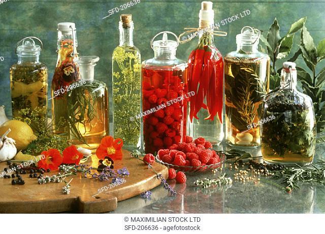 Several Flavored Oils