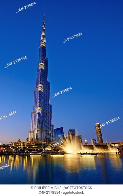 United Arab Emirates, Dubai, Burj Khalifa tower, 828m high