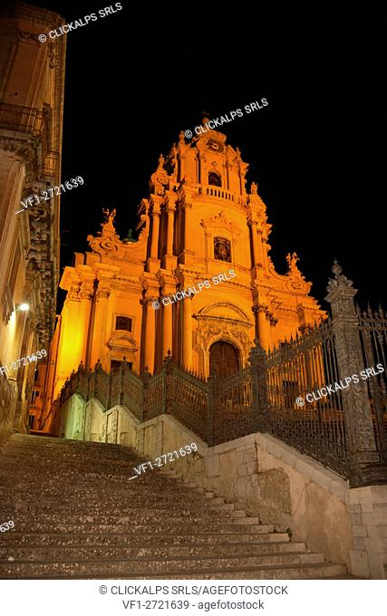 Cathedral of s. giorgio, Ragusa, Sicily, Italy, Europe