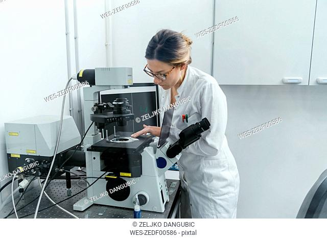 Laboratory technician working in modern lab